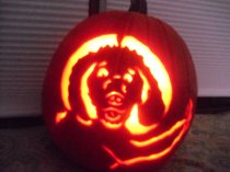 Don't you carve your dog playing Uno on a pumpkin for Halloween?