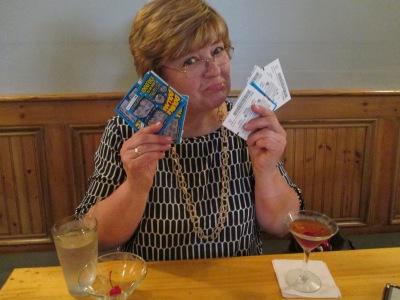25 lotto tickets: $50. Post Scratch-Off Carpal Tunnel Meds: $80. Winnings: $4. That face: Priceless.
