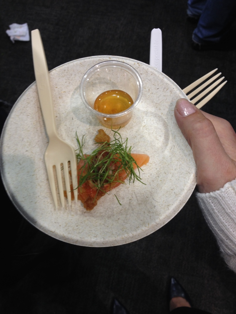 The delicate raw salmon and greens snuck into BaconFest thanks to the tempura flakes and bacon mayo.