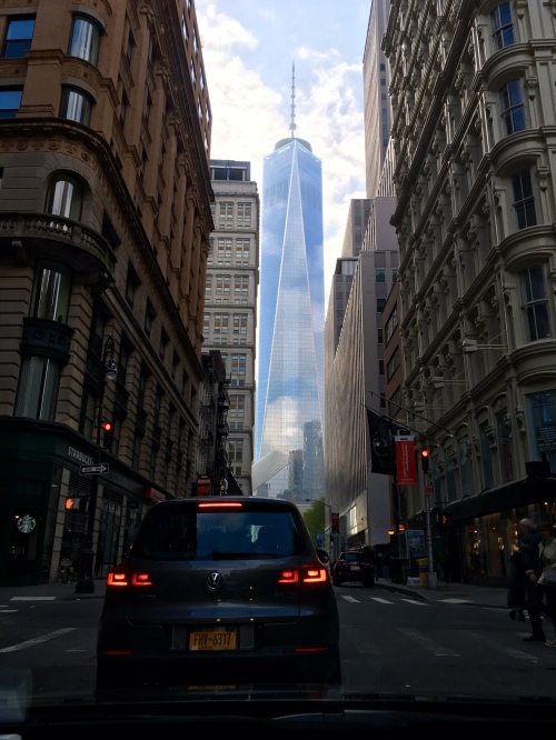 Bonus shot: Surreal view of the Freedom tower on the (painful) drive home.
