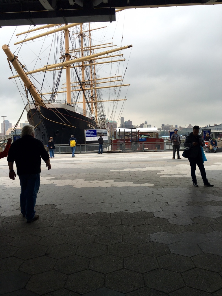 South Street seaport, our victory apéritif.
