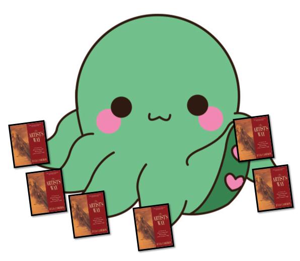 Go-Jules-Go-Artists-Way-post-kracken-octopus