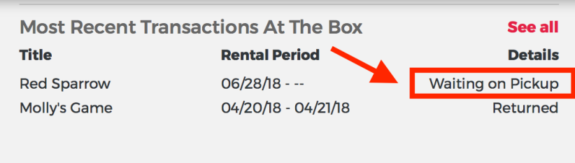 Losing it Redbox rental