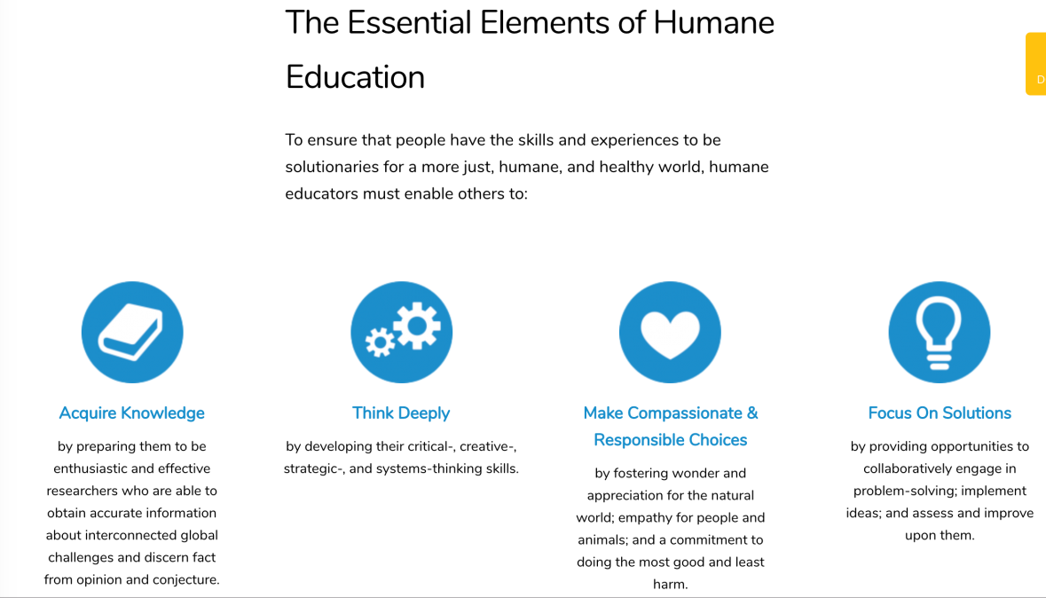 Essential Elements of Humane Ed