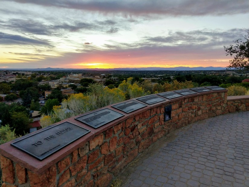Go Jules Go The Future sunset Santa Fe Oct 2018