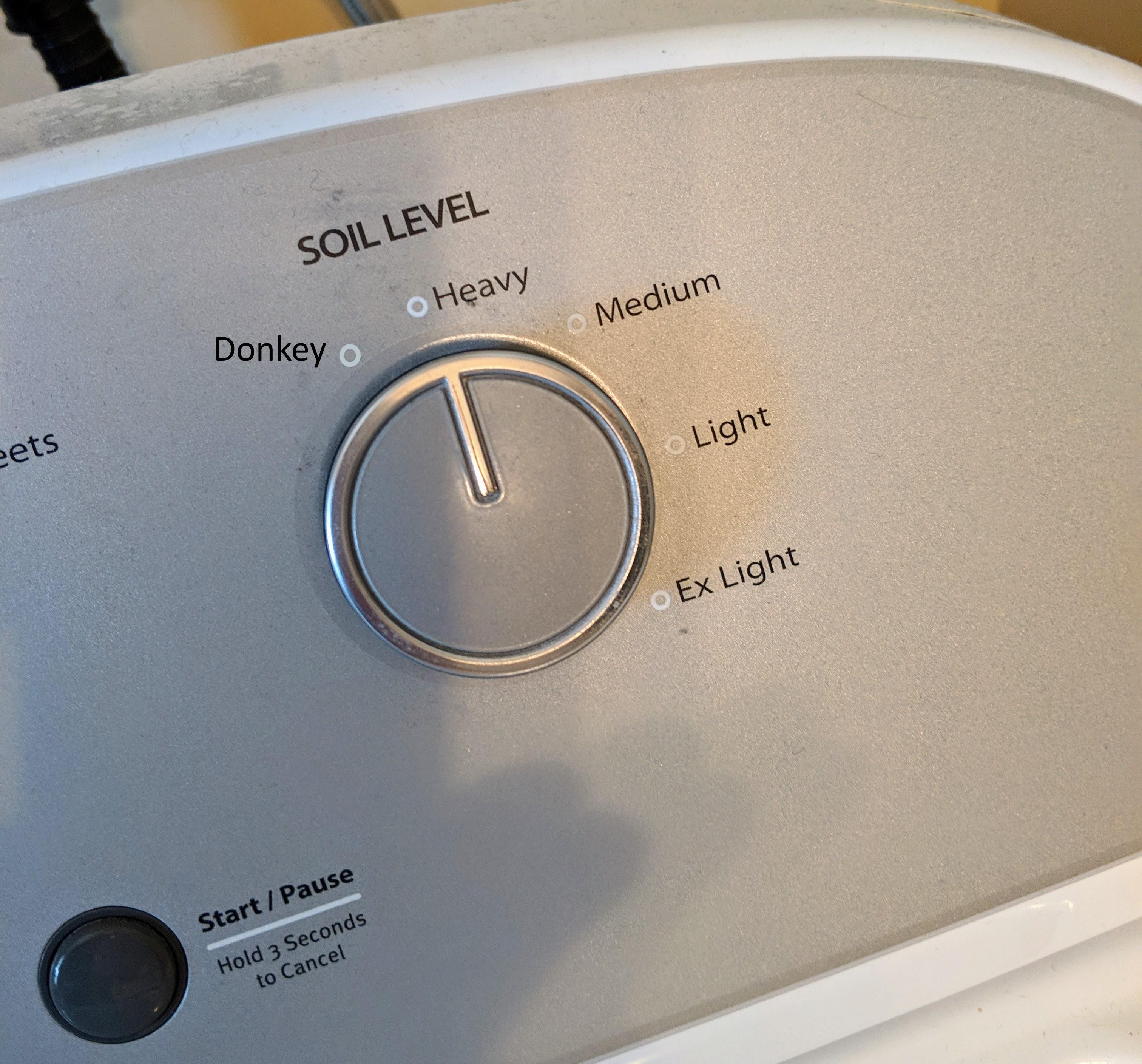 Laundry donkey setting Go Jules Go
