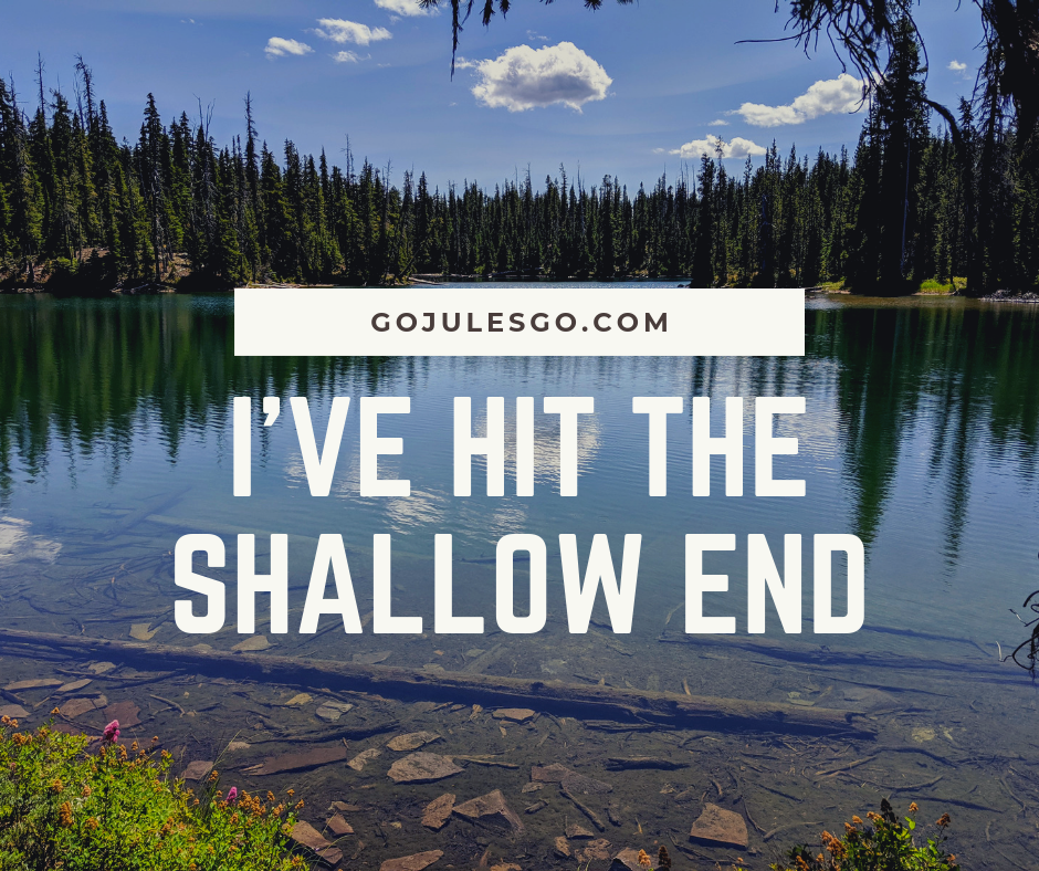 Go Jules Go title graphic_Ive hit the shallow end_21AUG2019