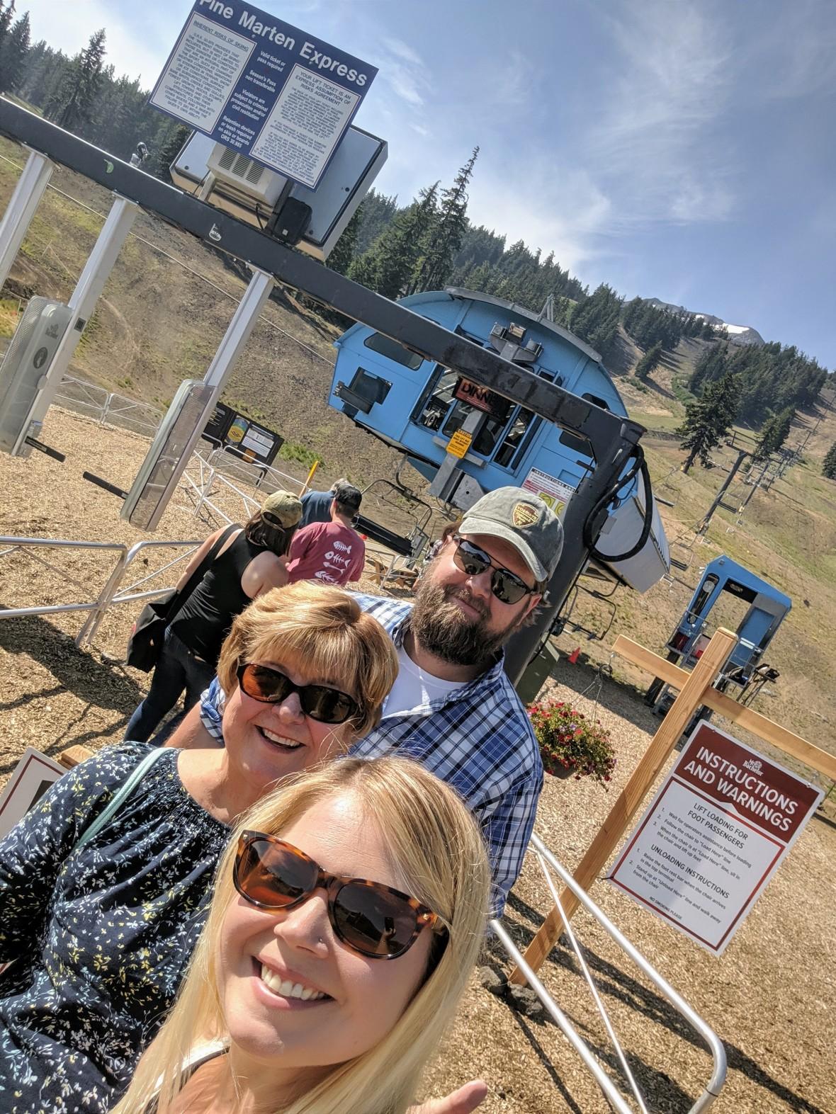 Mount Bachlor summer ski lift Aug 2019