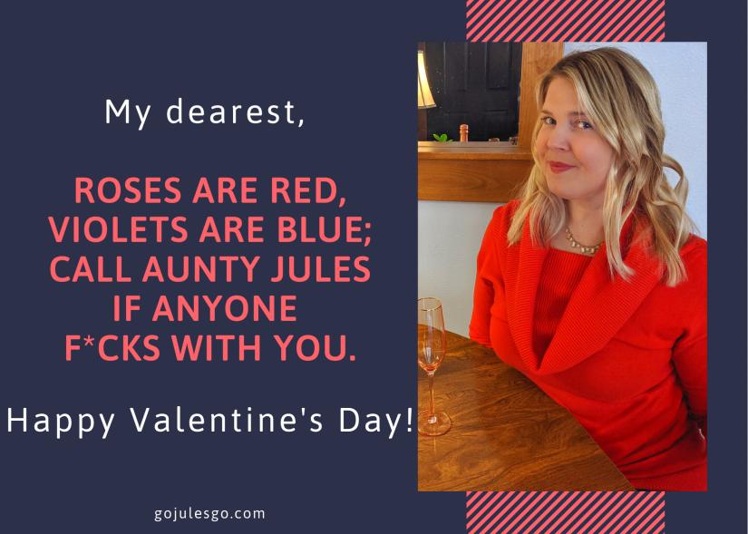 Aunty Go Jules Go Valentine