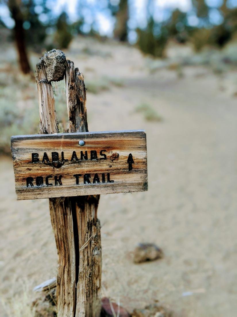 Badlands trail sign
