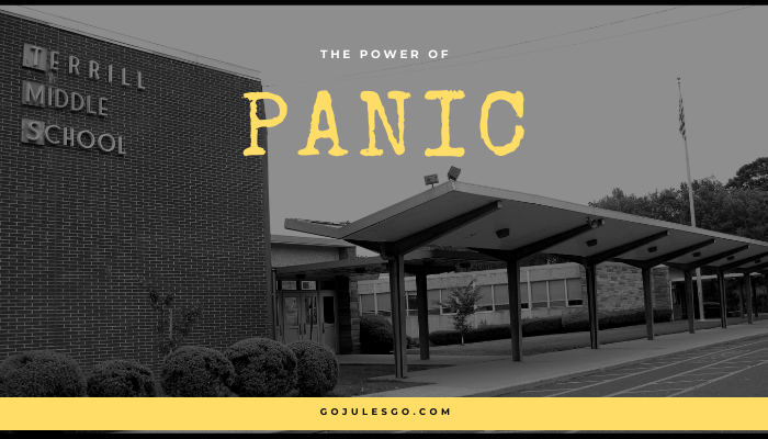 Go Jules Go title graphic The Power of Panic 29APR20