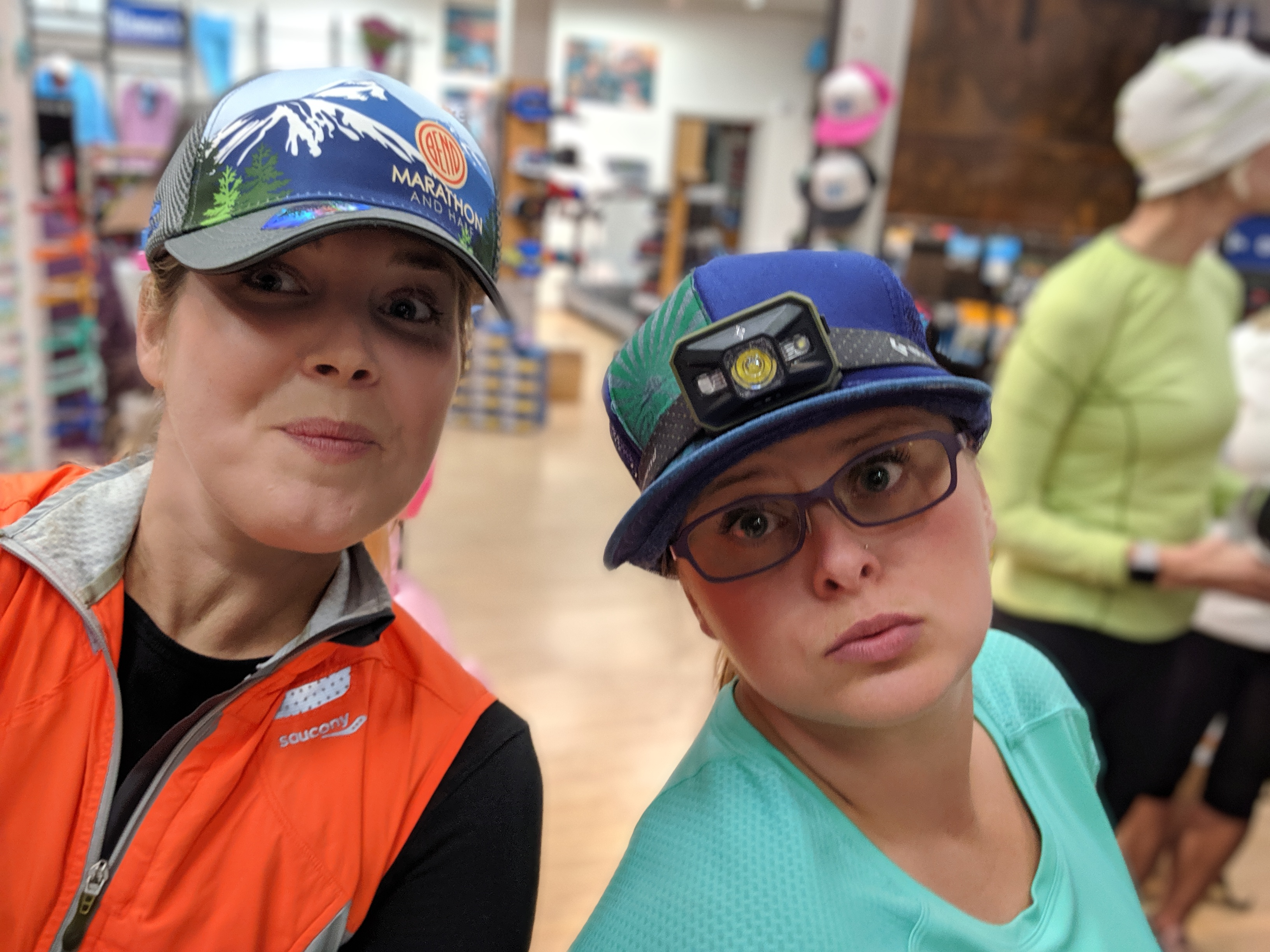 Erin Jules marathon hats FootZone Oct 2019