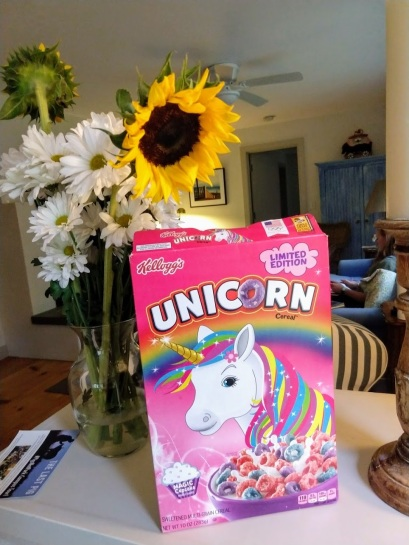 unicorn cereal box front
