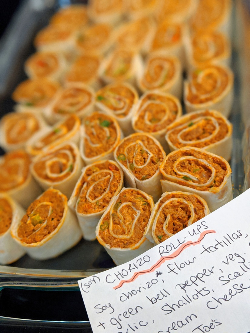 Soy chorizo roll ups with ingredient card